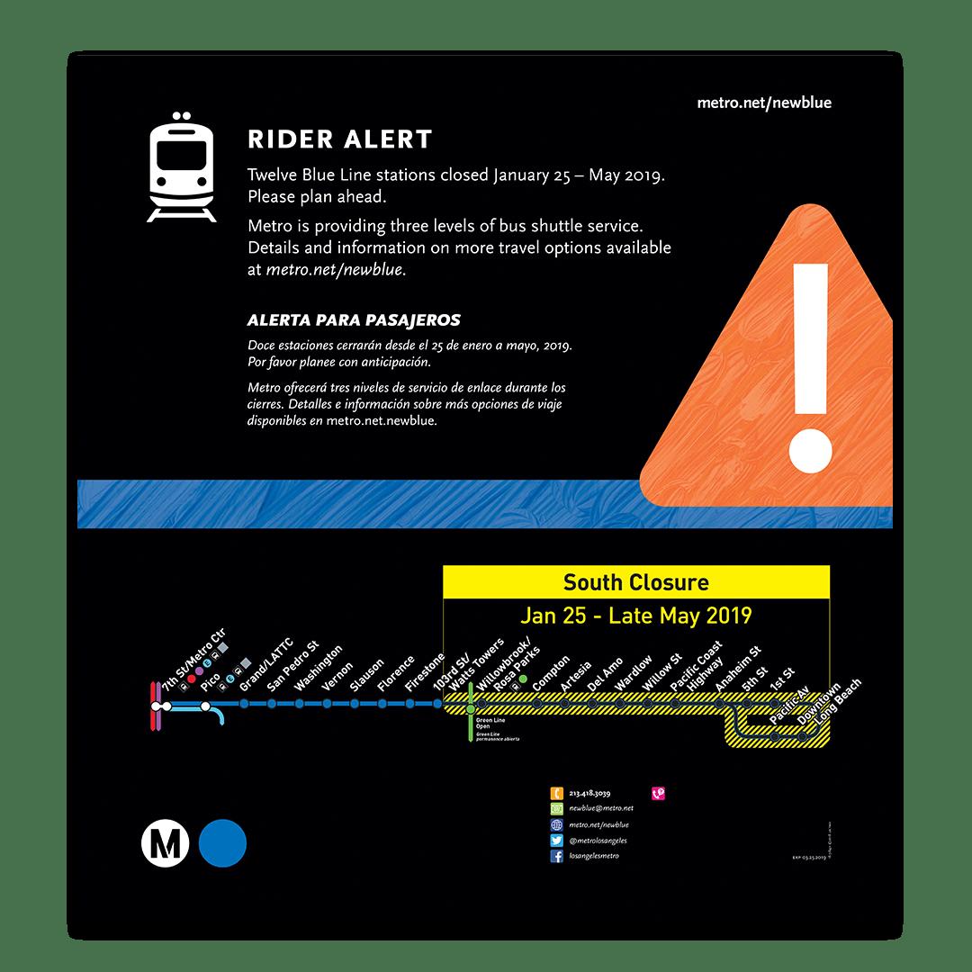 Blue Line Closure Rail Poster